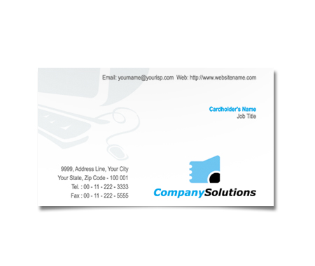 Complete Business Card  View with Layout For Business Computers