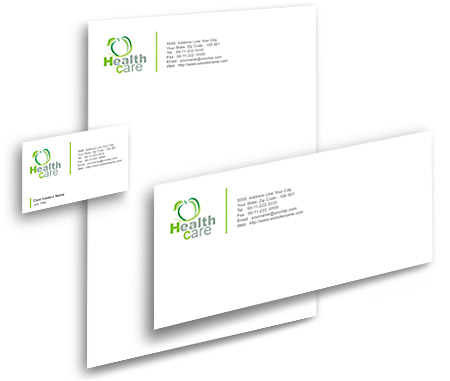 Complete Corporate Identity  View with Layout For Health Care