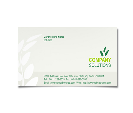 Complete Business Card  View with Layout For Horticulture
