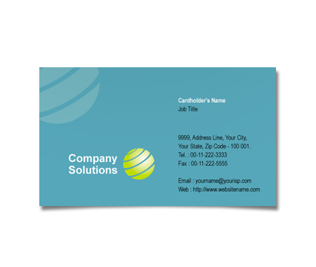Complete Business Card  View with Layout For Global Communication