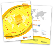 Brochure Templates logistics transport