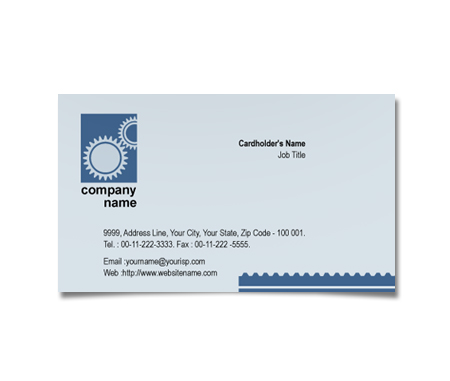 Complete Business Card  View with Layout For Industrial Manufacture