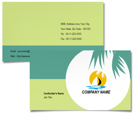 Complete Business Card  View with Layout For Coastal Tours