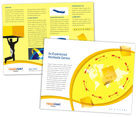 Complete Brochure  View with Layout For Logistics Transport