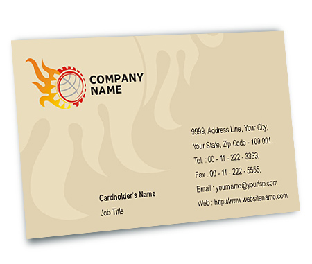 Complete Business Card View with Layout For Industrial Machines