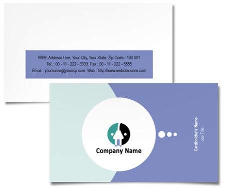 Complete Business Card  View with Layout For Electronics Manufacturer