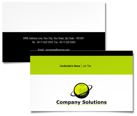 Complete Business Card  View with Layout For Host Internet