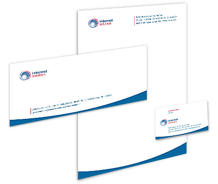 Complete Corporate Identity  View with Layout For Internet Business Solutions