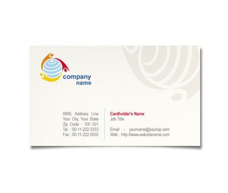 Complete Business Card  View with Layout For Social Communication