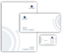 Corporate Identity Templates call centre business