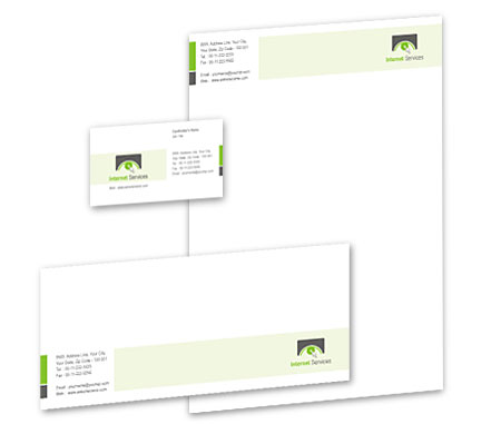 Complete Corporate Identity  View with Layout For Internet Marketing Solutions