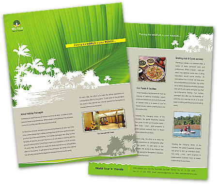 Complete Brochure  View with Layout For Travel Holiday