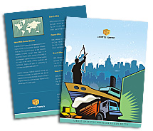 Brochure Templates shipping logistics