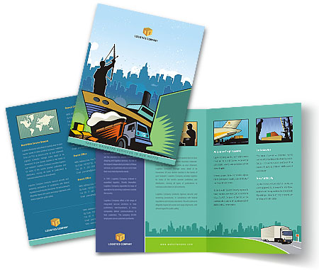 Complete Brochure  View with Layout For Shipping Logistics