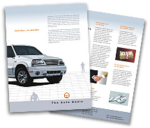 Brochure Templates automobile dealers