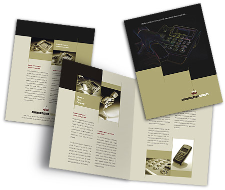 Complete Brochure  View with Layout For Telecom Systems