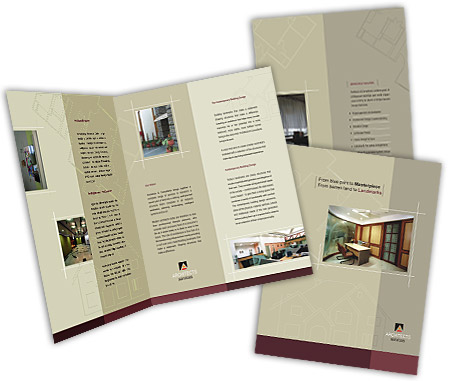Complete Brochure  View with Layout For Architectural Drafting Service
