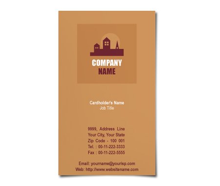 Complete Business Card  View with Layout For Construction Site