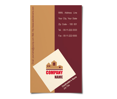 Complete Business Card  View with Layout For Construction Company