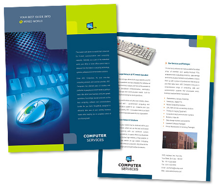 Complete Brochure  View with Layout For Computer Peripherals