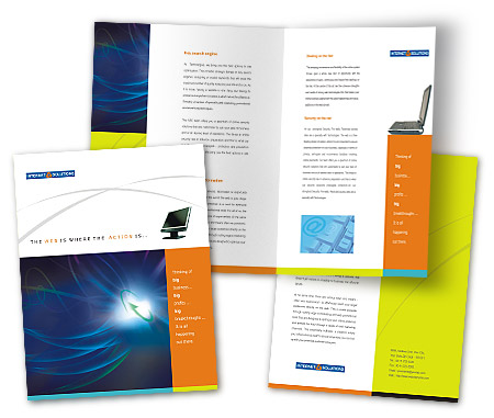 Complete Brochure  View with Layout For High Speed Internet Service