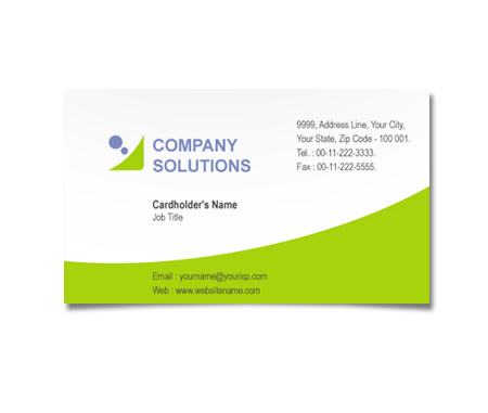 Complete Business Card  View with Layout For International Communication