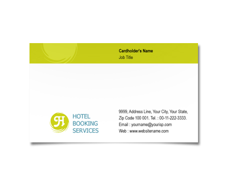 Complete Business Card  View with Layout For Hotel Deals