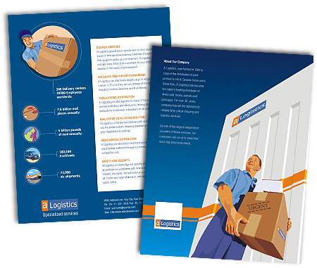 Complete Brochure  View with Layout For Logistics Companies