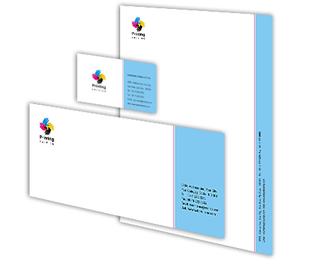 Complete Corporate Identity  View with Layout For Printing Press Services