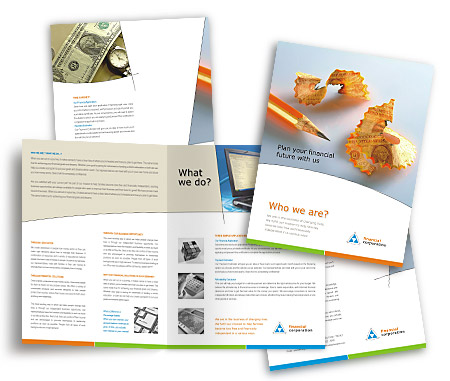 Complete Brochure  View with Layout For Capital Finance Services