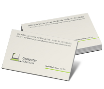 Business Card Templates used computers