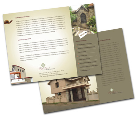 Complete Brochure  View with Layout For Building Construction Company