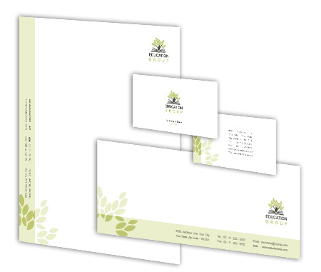Complete Corporate Identity  View with Layout For Education Center