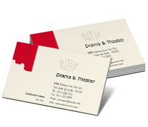 Business Card Templates drama and theater