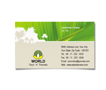 Complete Business Card  View with Layout For World Tour