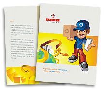 Logistics Express Courier brochure-templates