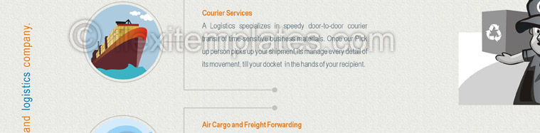 Actual Brochure  Design For Express Courier