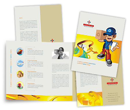 Complete Brochure  View with Layout For Express Courier