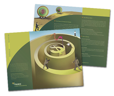 Complete Brochure  View with Layout For Finance Customer Services