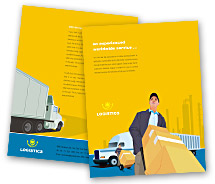 Logistics Logistics Transportation brochure-templates