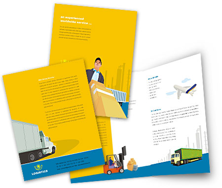 Complete Brochure  View with Layout For Logistics Transportation