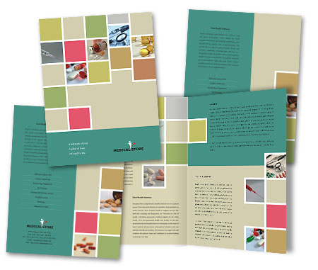 Complete Brochure  View with Layout For Medical Store