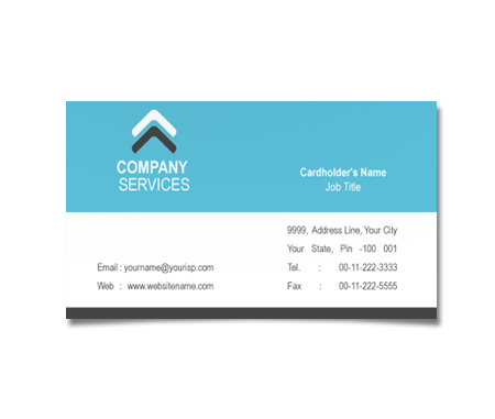 Complete Business Card  View with Layout For Global Communication centre