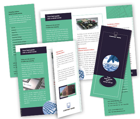 Complete Brochure  View with Layout For Computer Hardware Services