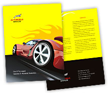 Brochure Templates sports cars