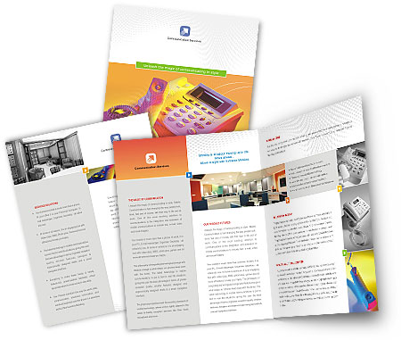 Complete Brochure  View with Layout For Telephone Service