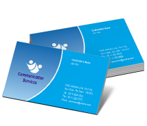 Communications Communication Service business-card-templates