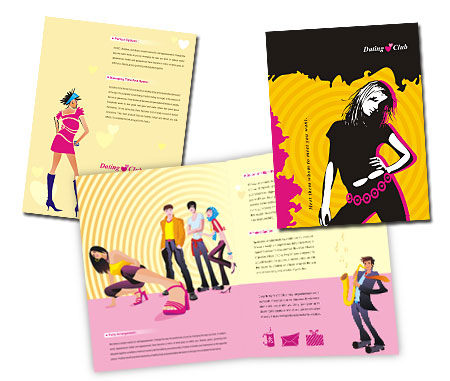 Complete Brochure  View with Layout For Dating Services