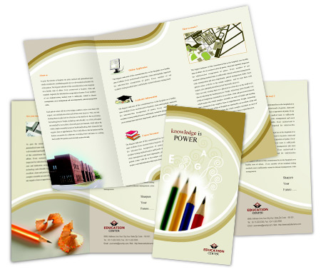 Complete Brochure  View with Layout For Art School