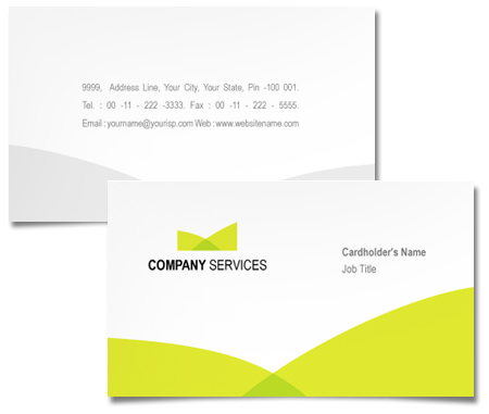 Complete Business Card  View with Layout For Corporate Investment